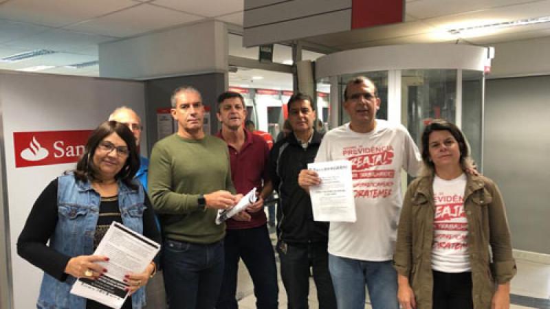 Bancários de Teresópolis participaram  do dia Nacional de luta contra a Reforma da Previdência