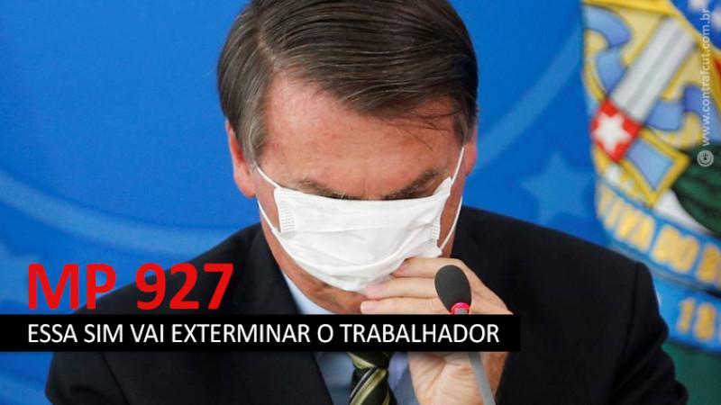 MP 927 de Bolsonaro leva pânico aos trabalhadores